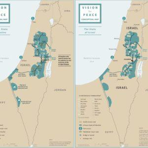 Israele e Palestina, due Stati, una capitale: la mappa del piano Trump