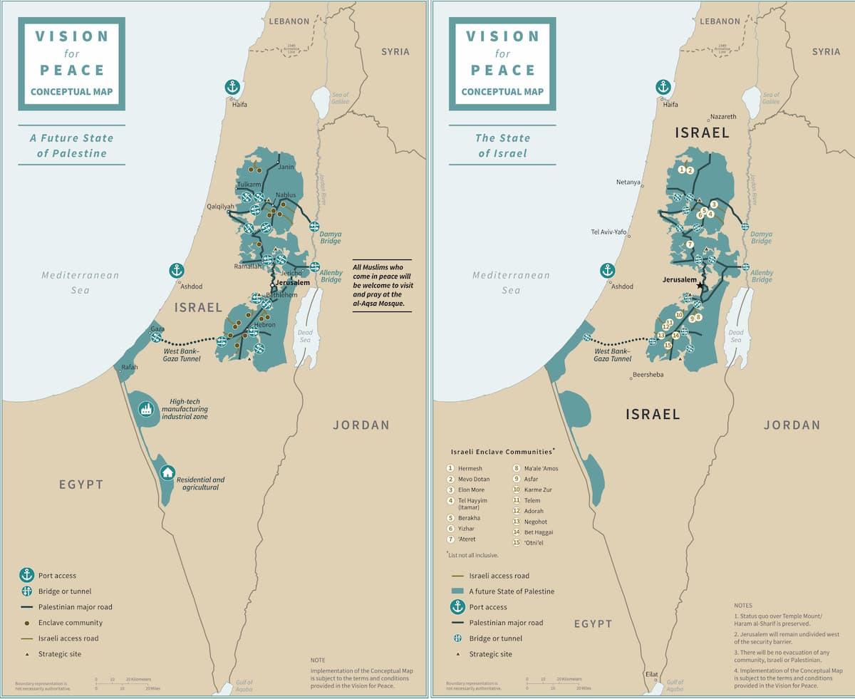 Israele Palestina Cartina.Israele E Palestina Il Piano Trump Due Stati Una Capitale La Mappa