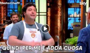 """Masterchef 9: Bruno Barbieri e la battuta maliziosa su """"Adda Cuosa"""" del concorrente Luciano"""