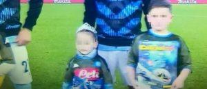 Noemi  con i calciatori prima di Lazio-Napoli FOTO