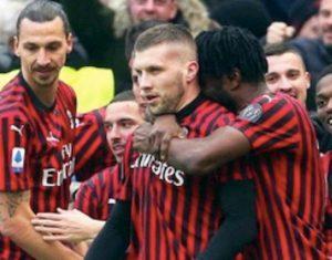Brescia-Milan 0-1, Rebic decisivo. Con Ibrahimovic si vince sempre