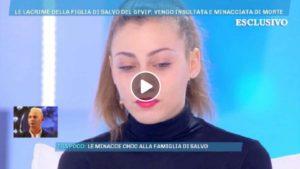 Domenica Live, Laura la figlia di Salvo Veneziano e le minacce ricevute sui social