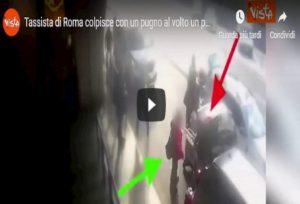 Roma, revocata la licenza al tassista che prese a pugni un cliente a Fiumicino VIDEO