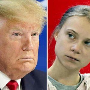 """Donald Trump sfida Greta Thunberg: """"Basta profeti di ventura, hanno stufato"""""""