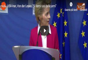 La presidente della Commissione Ue Ursula von der Leyen,