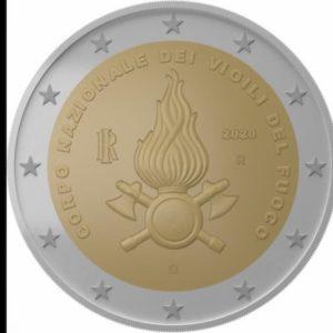 Monete, i 2 euro italiani dedicati ai Vigili del Fuoco e alla Montessori
