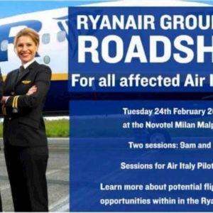 Air Italy, Ryanair recluta i piloti in liquidazione a Malpensa
