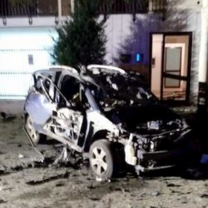 Ruvo di Puglia, bomba distrugge auto di un carabiniere