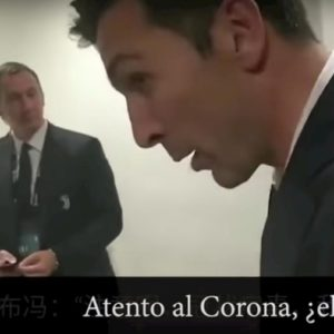 "Coronavirus, la battuta di Buffon al tifoso cinese: ""Attento eh..."""