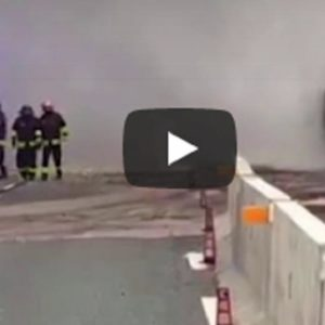camion fiamme arenzano a10