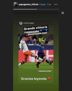 Atalanta-Valencia, siparietto tra il Papu Gomez e Caniggia su Instagram