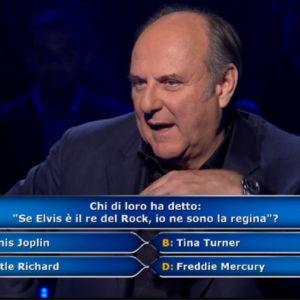 Chi vuol essere milionario, la domanda: Elvis è re del rock, io sono regina