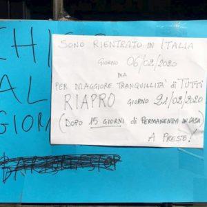 """Coronavirus, sarto cinese in Italia chiude per 15 giorni: """"Per la tranquillità di tutti"""""""