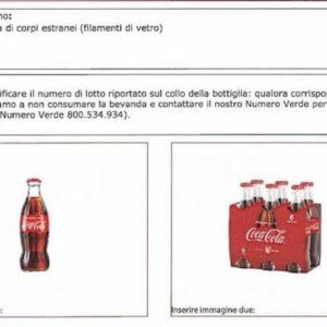 """Coca Cola Original Taste, """"possibili filamenti di vetro nelle bottibglie"""": i lotti richiamati"""
