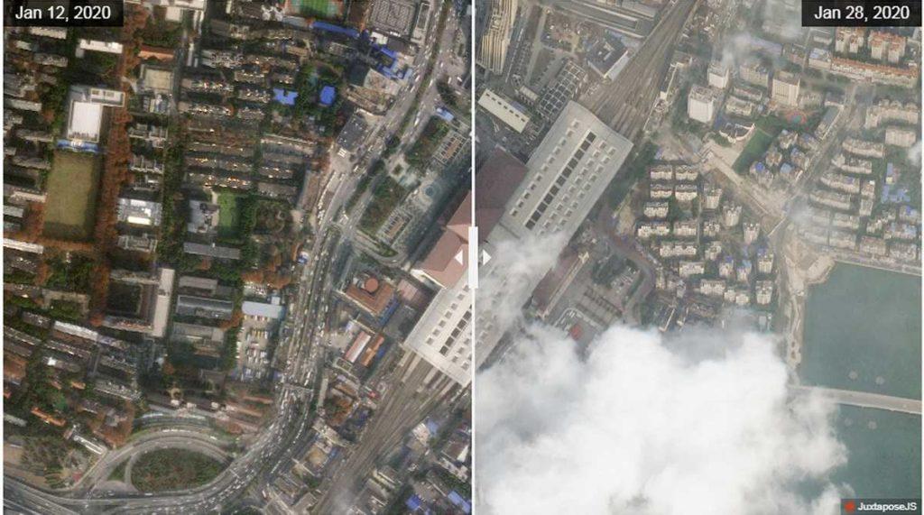 wuhan foto satellite ansa