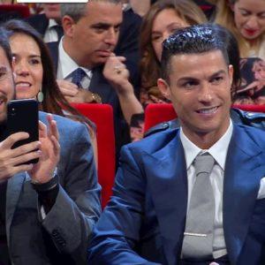 Sanremo 2020, Cristiano Ronaldo emozionato per l'esordio di Georgina Rodriguez