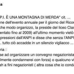 "Castellammare di Stabia, il consigliere Fdi Ernesto Sica: ""L'Anpi è una montagna di merda"""