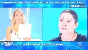 """Domenica Live, Gerardina Trovato: """"Sono sotto sfratto, vivo con 80 euro al mese della Caritas"""""""