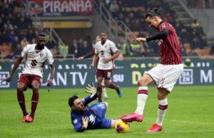 Ibrahimovic incontentabile: il Milan non mata il Toro, lui esce furioso