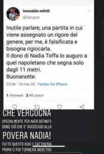 """""""Immobile muori di cancro come Nadia Toffa"""", la moglie Jessica denuncia questo orribile commento su Instagram"""