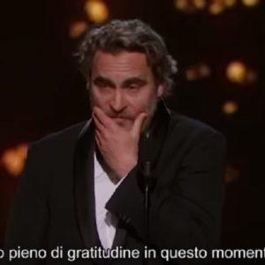 Oscar 2020, Joaquin Phoenix ricorda il fratello