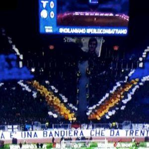 Lazio-Inter, striscioni e coreografie per ricordare il gemellaggio tra le due tifoserie