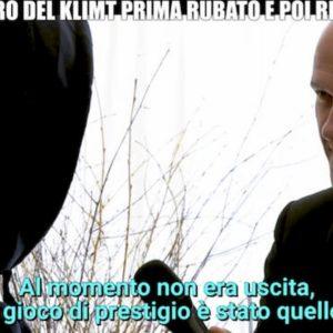 """Le Iene, Klimt rubato. Il presunto ladro: """"E se fosse un falso?"""""""