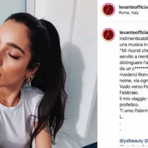"""Levante, la dedica criptica su Instagram: """"Distinguere l'amore dal rumore"""". Dedicata a Diodato?"""