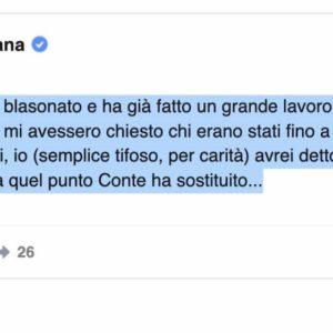 """Lazio-Inter, Enrico Mentana critica Conte: """"Ha sostituito i migliori"""""""