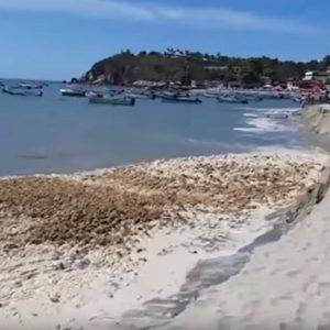 messico spiaggia sprofonda