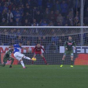 Quagliarella, solo gol impossibili contro il Napoli: la sua ultima prodezza