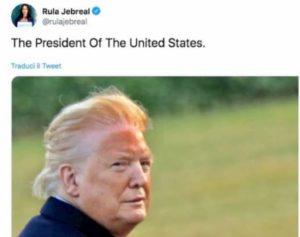 Rula Jebreal, il tweet con la foto di Trump le costa le accuse di bodyshaming
