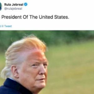 Rula Jebreal, il tweet con la foto di Trump le costa le accuse di bodyshaming