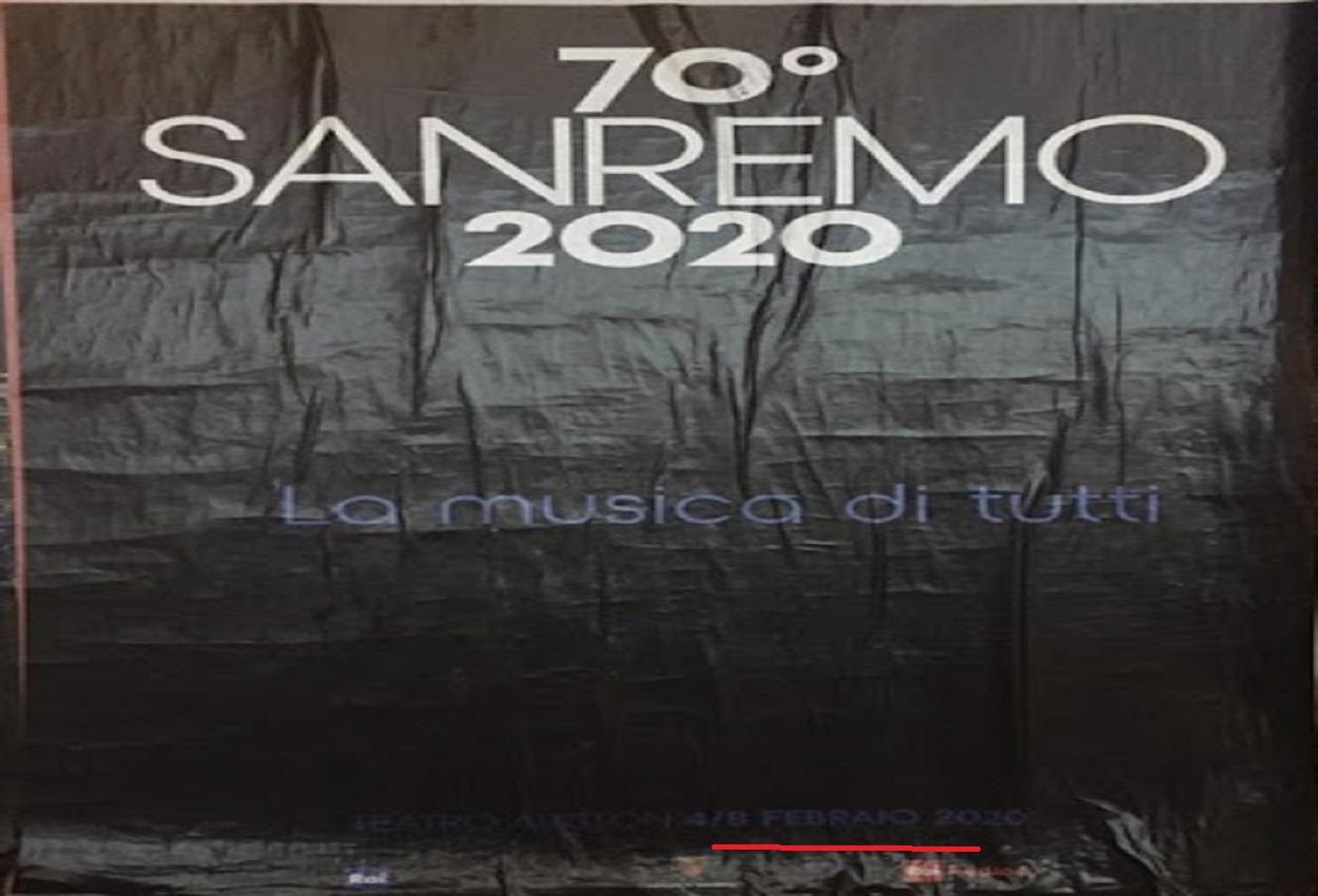 Sanremo, manifesti