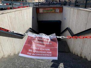 stazione chiusa atac roma