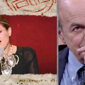 """diMartedì, Tosca canta Bella Ciao e Bersani si commuove. """"Io sto con le Sardine, hanno fatto la rivoluzione gentile"""""""