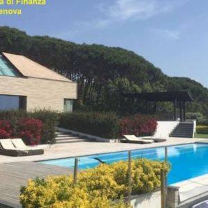 Villa sequestrata ad Arenzano, affitto in nero da mille euro al giorno. Tra i clienti anche calciatori