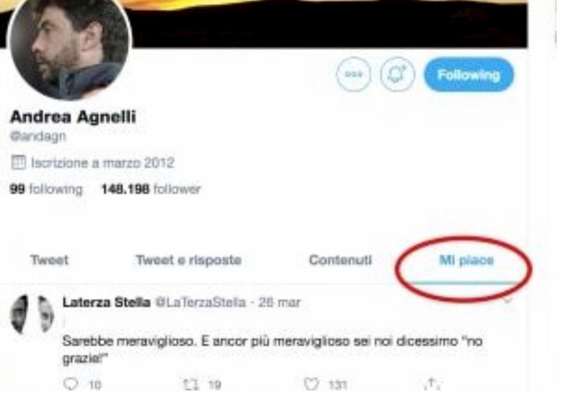 """Coronavirus, """"No allo scudetto a tavolino"""": Agnelli mette like a post su Twitter"""