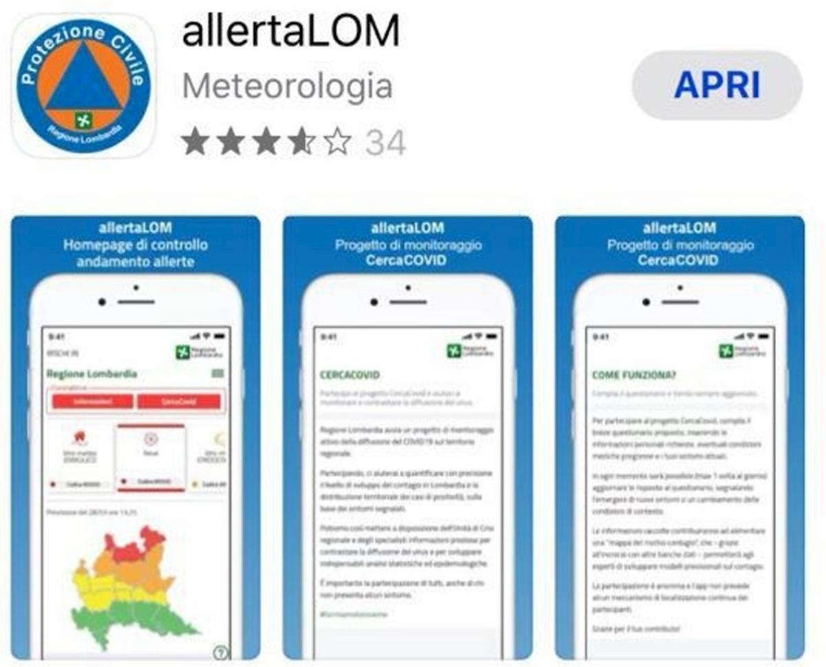 allertalom app per mappare contagio