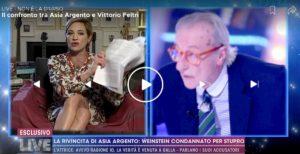 """Live-Non è la D'Urso, Asia Argento contro Claudia Gerini: """"Non è più mia amica: stava con Fabrizio Lombardo, papp*** di Weinstein"""""""
