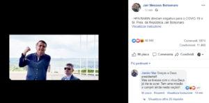 Bolsonaro negativo coronavirus: su Fb fa il gesto dell'ombrello