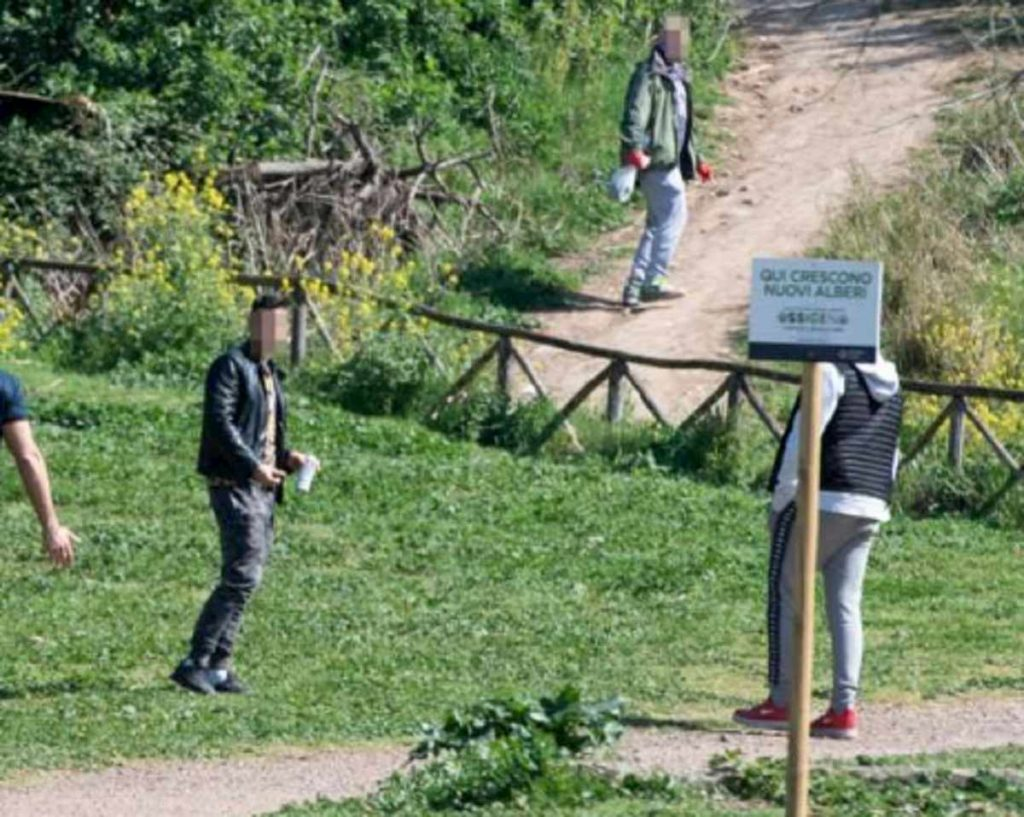 sport parco caffarella coronavirus