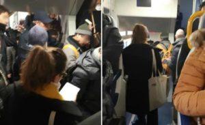 """Coronavirus, pendolari ammassati sui treni Trenord: """"E la regola sul metro di distanza?"""""""