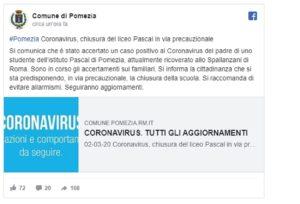 Coronavirus, Pomezia