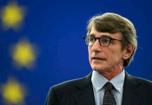 """David Sassoli: """"Presiedo l'Europarlamento da casa mia a Bruxelles"""". Era stato in Italia"""