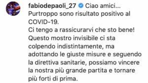 Fabio Depaoli, chi è il calciatore della Sampdoria positivo al coronavirus
