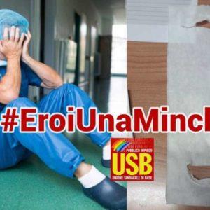Coronavirus, #eroiunaminchia: la denuncia Usb sulle finte mascherine e i tamponi negati ai medici