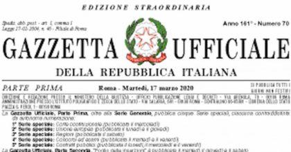 Decreto Cura Italia pubblicato in Gazzetta Ufficiale: ecco il testo completo da scaricare