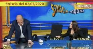 Gerry Scotti, malore a Striscia la Notizia. Manzini: Crampo al testi***