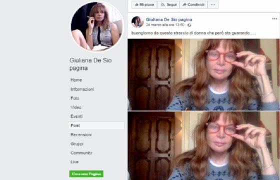 giuliana de sio facebook coronavirus